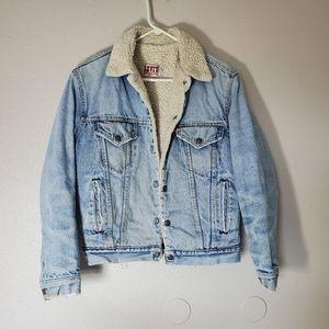 Vintage Levi's San Fran Denim sherpa lined jacket